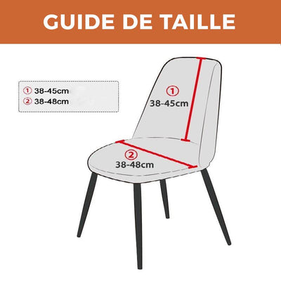 HOUSSE DE CHAISE SCANDINAVE <br/> MÉTAL - Housse de Chaise Scandinave - DecoHousse