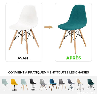 Housse de Chaise Scandinave <br/> Moutarde - Housse de Chaise Scandinave - DecoHousse