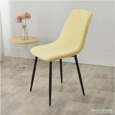 Housse Extensible de Chaise Scandinave Jaune