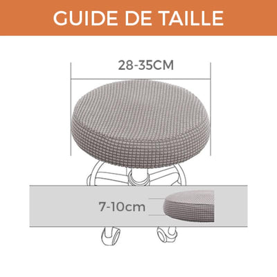 Housse Tabouret Bar - Jade - Housse Tabouret Bar - DecoHousse