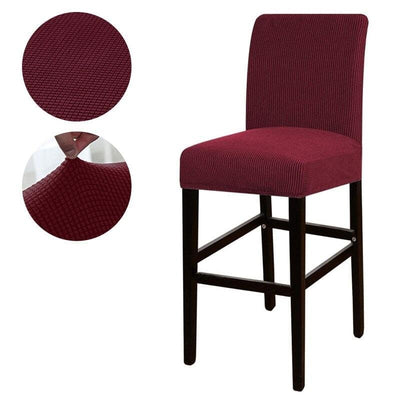 HOUSSE DE CHAISE BAR <br/> ROUGE BORDEAUX - Housse de Chaise Bar - DecoHousse