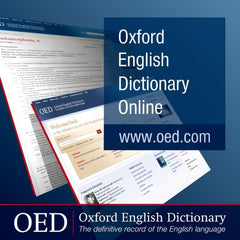 Oxford English Dictionary (OED Online)