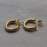 Argollas Gracia Mini Satinadas Oro