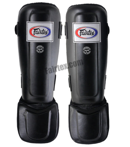 Fairtex Pro Style In-Step Double Padded Muay Thai Shin Guards - Black