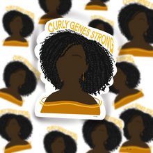 Load image into Gallery viewer, Curly Genes Strong Sticker