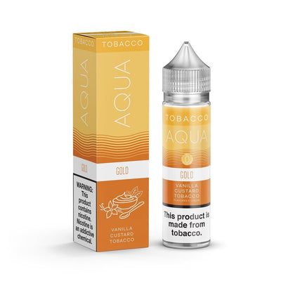 AQUA TOBACCO | Gold 60ML eLiquid - Vaping Industries