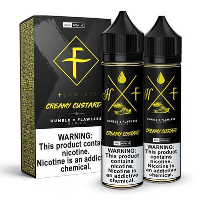 HUMBLE X FLAWLESS | Creamy Custard 120ML eLiquid - Vaping Industries