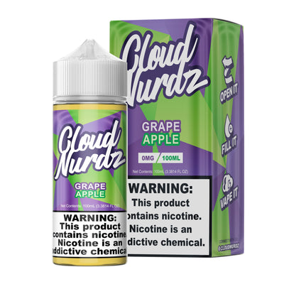 CLOUD NURDZ | Grape Apple 100ML eLiquid - Vaping Industries