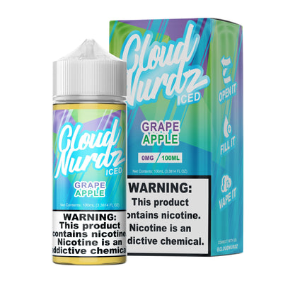 CLOUD NURDZ ICED | Grape Apple 100ML eLiquid - Vaping Industries