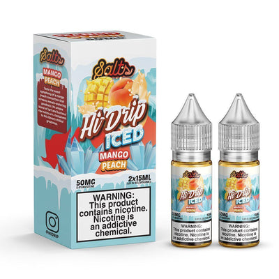 HI DRIP SALTS | Mango Peach Iced 2X15ML eLiquid - Vaping Industries