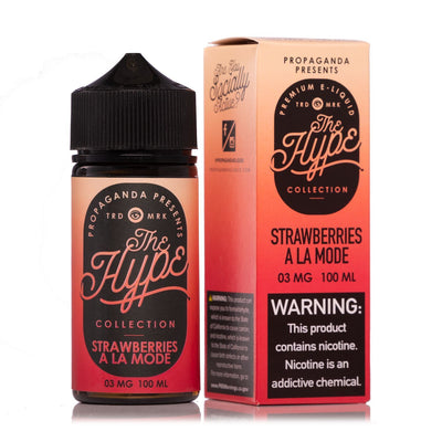 THE HYPE COLLECTION | Strawberries À La Mode 100ML eLiquid - Vaping Industries