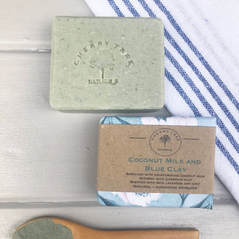 Coconut Milk and Blue Clay Soap Bar