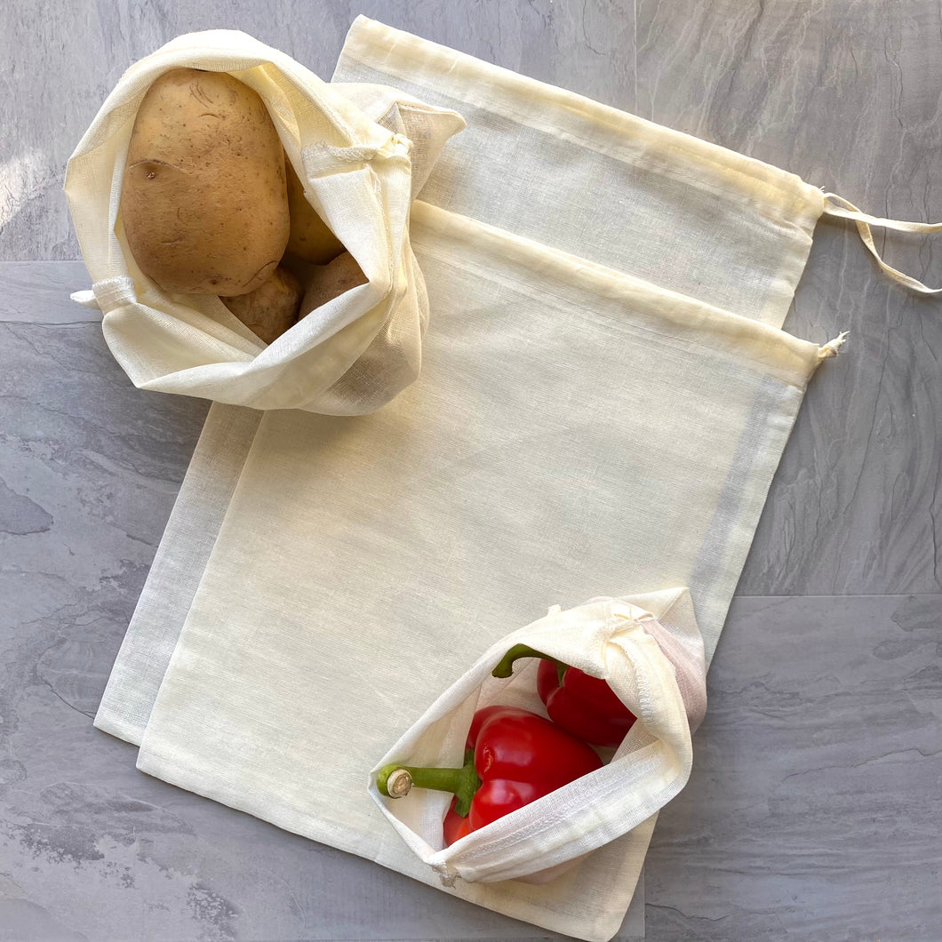 Cotton Produce Bags (Pack of 4)