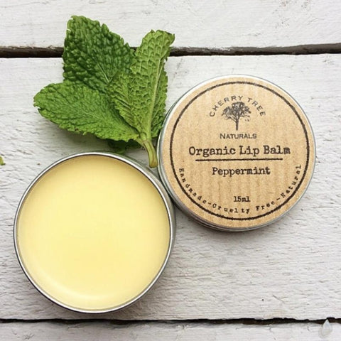 Organic Peppermint Lip Balm - Earth Kind, Rewind