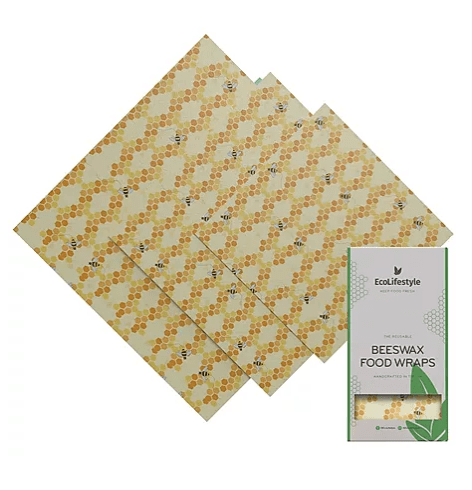 Beeswax Wraps Kitchen Pack - Bees - Earth Kind, Rewind