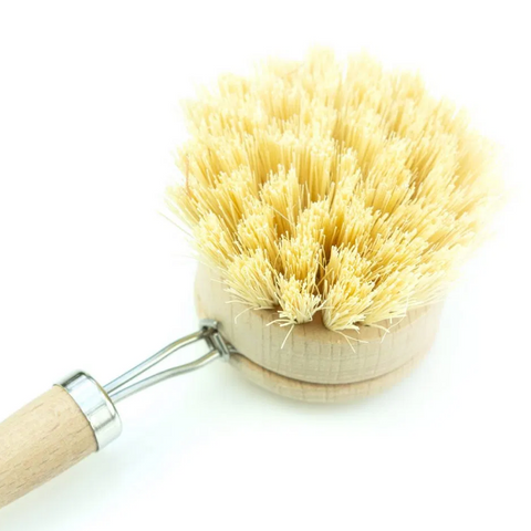Bamboo & Sisal Round Removable Head Dish Brush - Replacement Head