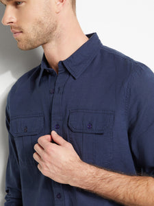 LS ERIC COTTON LINEN BSC SHIRT