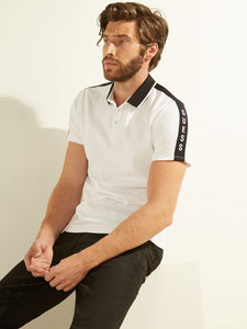ES SS PIQUE GUESS TAPE POLO