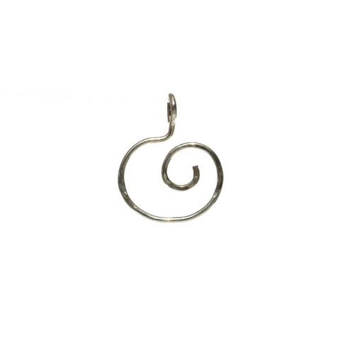 Spiral Swirl Sterling Pendant or Charm Holder