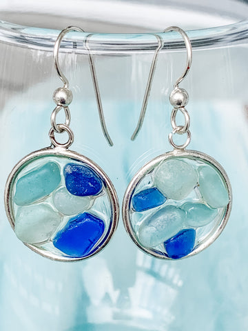 Sea Glass Mosaic Earrings