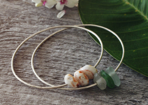 Beachy Bangle with Tiger Puka Shells