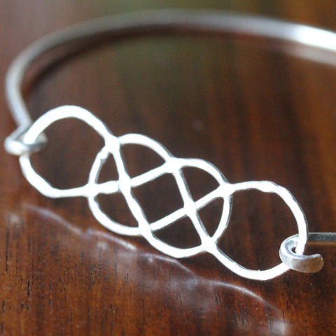 ORIGINAL Double Infinity Stackable Bangle Bracelet
