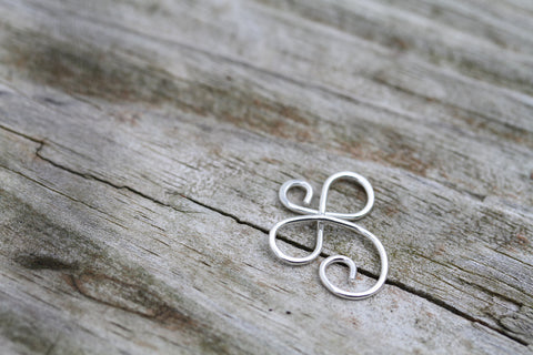 Small Sterling Infinity Angel Pendant or Charm Holder