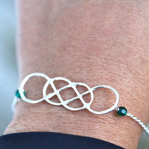ORIGINAL Double Infinity Bracelet with birthstones