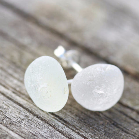 Hawaiian Beach Glass Studs