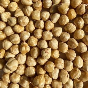 Hazelnuts - peeled and blanched