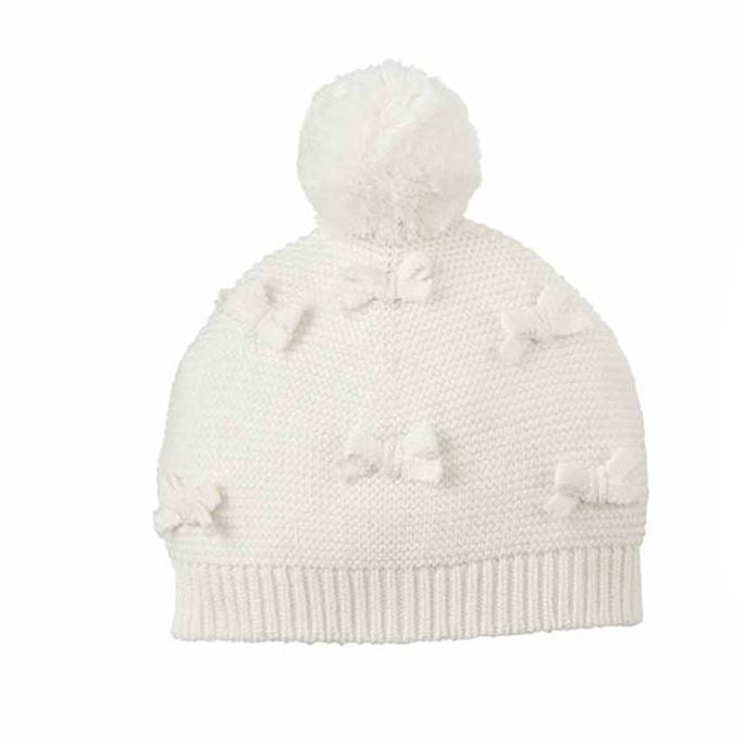 Ivory Puff Knit Hat