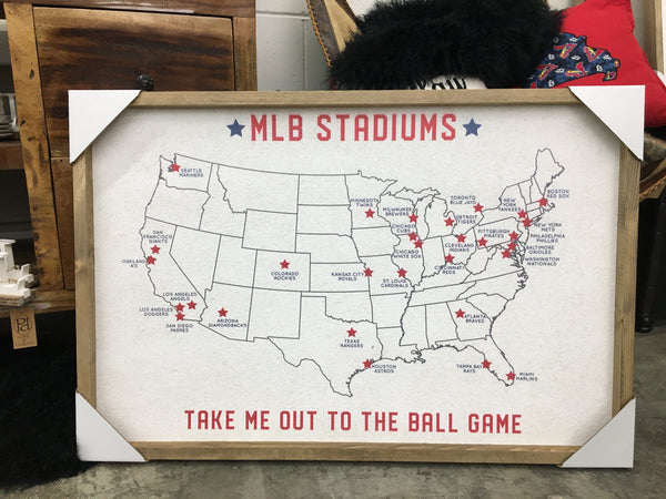 FRAMED 24X36 MLB STADIUM MAP