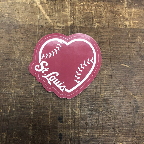 Baseball Heart STICKER