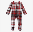 Noah Plaid Footie Zippered One Piece