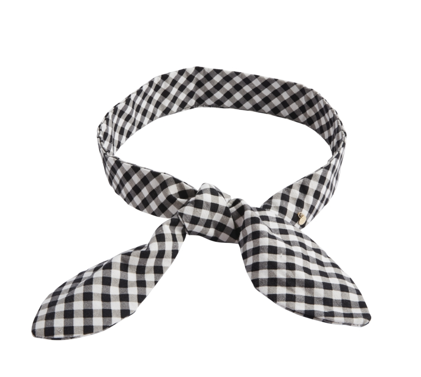 Woven Bow Belt - Black and White