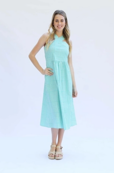 Arden Dress - Line by Line Green