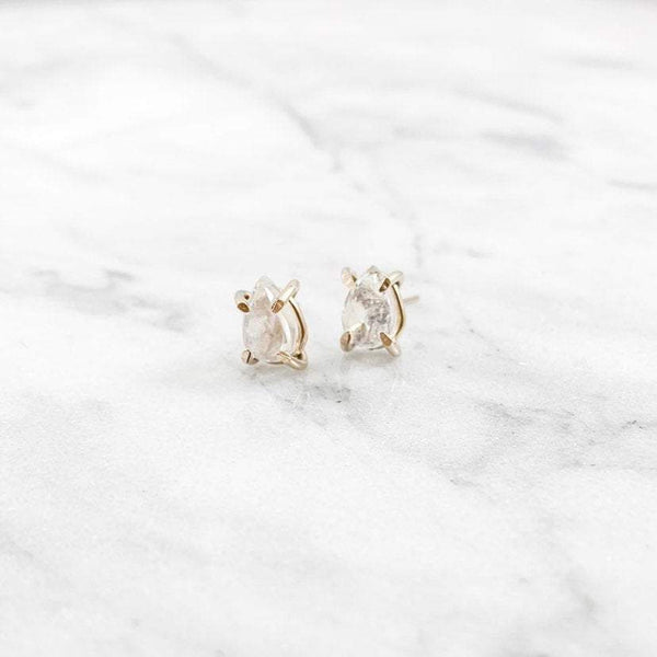 Pear Moonstone Studs - Simply Chic Jewelry