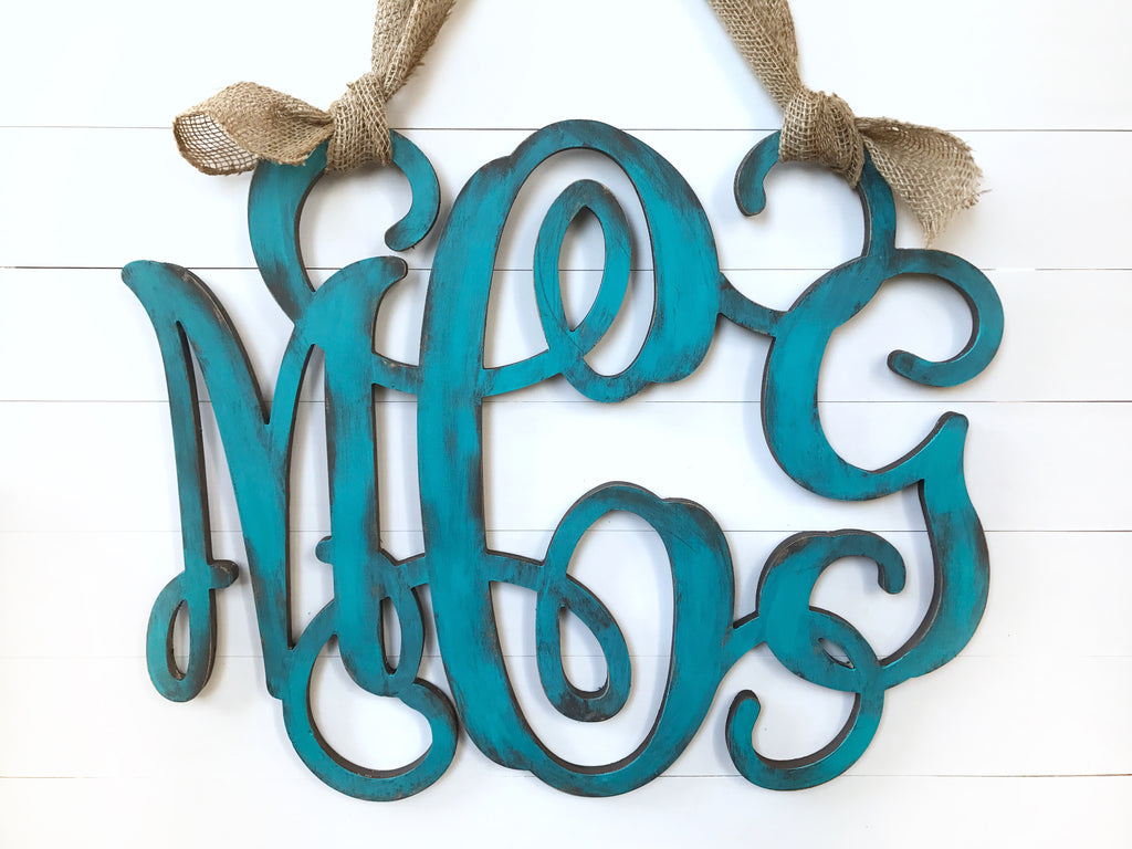 Wood Monogram Decor -Saturday June 22nd