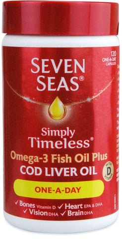 Seven Seas Cod Liver Oil One-a-Day Capsules 120 capsules