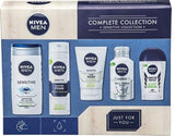 NIVEA MEN Sensitive Kit Gift Set (5-Piece) Sensitive Skin Men Gift Set Includes Full-Size Deodorant, Face Wash, Aftershave Balm, Men's Moisturiser, & Shower Gel