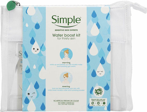 Simple Sensitive Skin Water Boost kit Regime Gift Set Moisturiser Hydrating