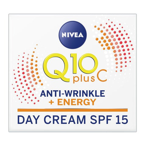 NIVEA Q10 plus Vitamin C Anti-Wrinkle + Energy Face Cream SPF 15 50ml