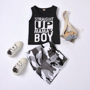 Straight Up Mama's Boy Camouflage Printed Baby Set