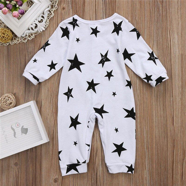 Lovely Stars Printed Baby Jumpsuit