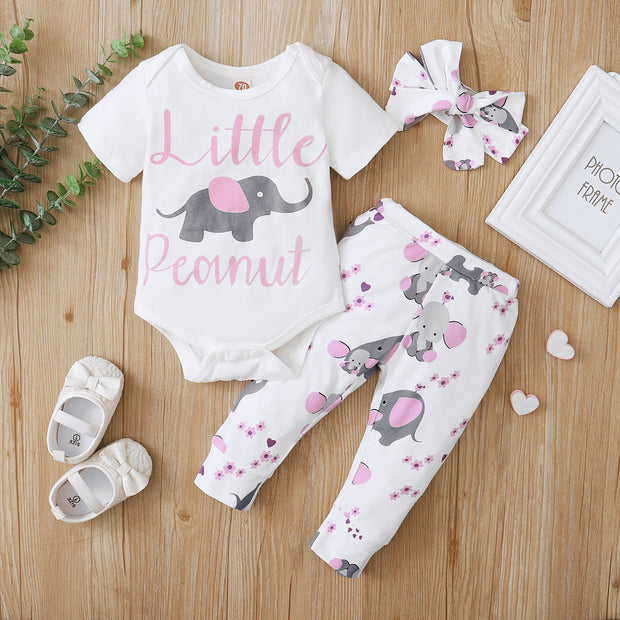 Little Elephant Allover Printed Baby Set