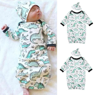 2PCS Lovely Cartoon Dinosaur Printed Baby Sleeping Bag