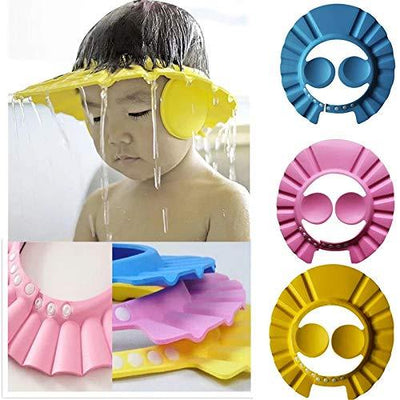 1PC Baby Adjustable Bathing Bath Protect Ears Shampoo Shower Cap