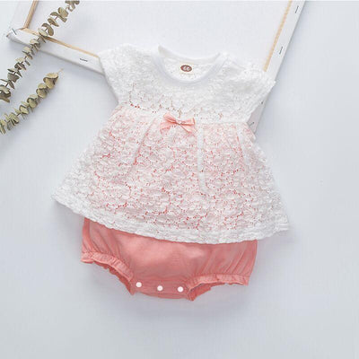 Sweet Lace Sleeveless Baby Romper