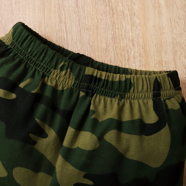 "3PCS ""Daddy's Little Boy""Camouflage Printed Baby Boy Set"