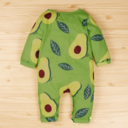 Lovely Full Avocado Printed Baby Jumpsuit
